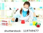 young scientist in  laboratory | Shutterstock . vector #119749477