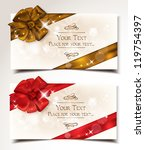 elegant holiday cards with... | Shutterstock .eps vector #119754397