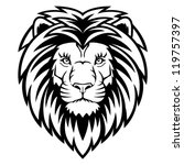 A Lion Head  Logo In Black And...