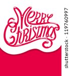 merry christmas  illustration ... | Shutterstock . vector #119760997