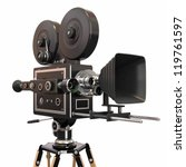 vintage movie camera. 3d | Shutterstock . vector #119761597