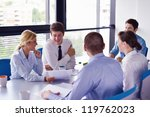 group of happy young  business... | Shutterstock . vector #119762023