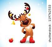 Funny Reindeer Christmas  Cute...