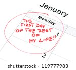 new year's resolution for a new ... | Shutterstock . vector #119777983