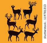 deer life | Shutterstock .eps vector #119781313