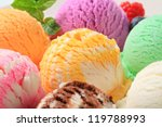 Stock photo assorted ice cream 119788993