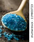 blue crystals of salt on the... | Shutterstock . vector #119803723