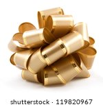gift bow isolated on white... | Shutterstock . vector #119820967