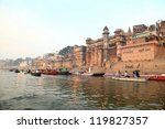 famous river ganges and...   Shutterstock . vector #119827357