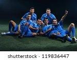 soccer players team group... | Shutterstock . vector #119836447