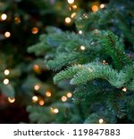 christmas lights hanging in a... | Shutterstock . vector #119847883