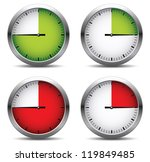 Clock set.Vector illustration - stock vector