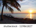 sunset at the beach  zanzibar   Shutterstock . vector #119861827