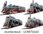 Set Of Antique Steam...