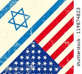 israel and american grunge flag | Shutterstock .eps vector #119874823