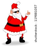 funny fat santa claus showing...   Shutterstock .eps vector #119881057