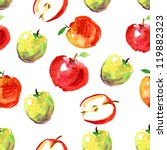 hand drawn apples watercolor... | Shutterstock . vector #119882323