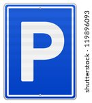 isolated parking sign   blue... | Shutterstock .eps vector #119896093