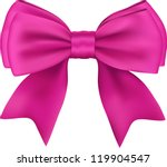 Pink Gift Satin Ribbon Bow On...