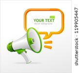 vector megaphone speech... | Shutterstock .eps vector #119905447