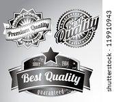 premium quality vintage labels   Shutterstock .eps vector #119910943