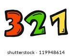 3 2 1 countdown - stock photo