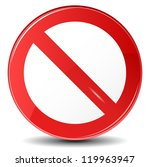 vector illustration of stop sign | Shutterstock .eps vector #119963947
