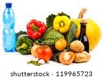 fresh vegetables isolated on... | Shutterstock . vector #119965723