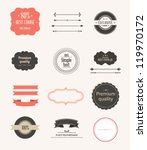 Collection of  Labels and vector element with retro vintage styled design - stock vector