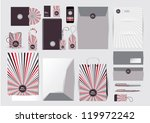Great stationery design set in editable vector format - stock vector