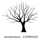 Tree Silhouette Isolated On...