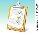 vector clipboard with check list | Shutterstock .eps vector #119995627