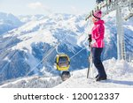 Happy Smiling Woman In Ski...