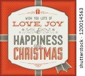 vintage christmas card   Shutterstock .eps vector #120014563