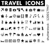 travel icons | Shutterstock .eps vector #120017947