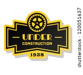 yellow label under construction ... | Shutterstock .eps vector #120051637