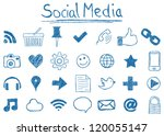 illustration of social media... | Shutterstock .eps vector #120055147