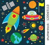outer space design elements | Shutterstock .eps vector #120065113