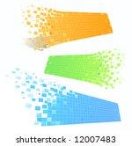 set of color mosaic frames   Shutterstock .eps vector #12007483