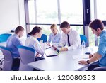 group of happy young  business... | Shutterstock . vector #120080353