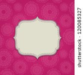 Pink Invitation Card With Blan...