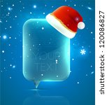 christmas speech bubble with...