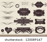 calligraphic design elements ... | Shutterstock .eps vector #120089167