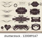 calligraphic design elements ... | Shutterstock .eps vector #120089167