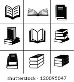 book icons set.   Shutterstock .eps vector #120095047