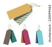 doubled price tags | Shutterstock . vector #120099463