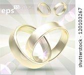 wedding golden rings linked and ... | Shutterstock .eps vector #120103267