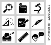 education icons set | Shutterstock .eps vector #120108313