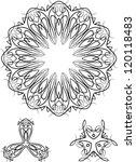 circular pinstripe design | Shutterstock .eps vector #120118483