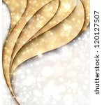 golden wavy background with... | Shutterstock .eps vector #120127507